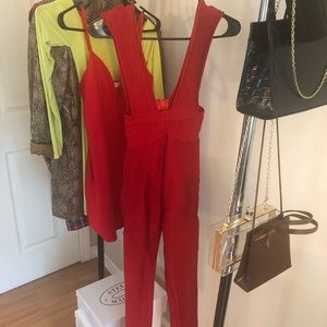 Other - Red Bandage Jumpsuit